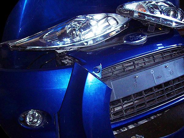 blue car ford